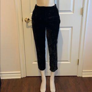 TOPSHOP velvet Capris pants size 4